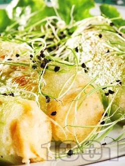 Пълнени пържени корнишони - снимка на рецептата